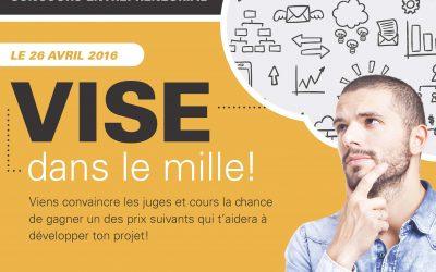 Assistez aux présentations d'idées d'affaires du concours Vise dans le mille